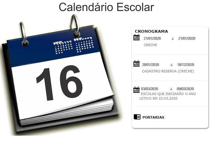 Calendário Matrícula SEDUC MT 2021