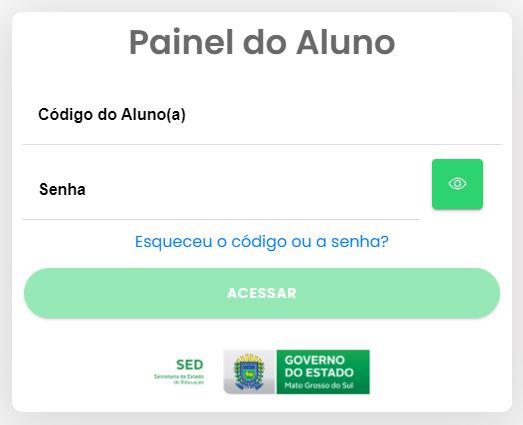 Como acessar o Painel do Aluno do Mato Grosso do Sul
