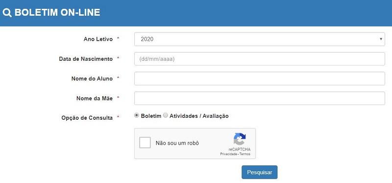 Como Consultar o Boletim Online PA 2021