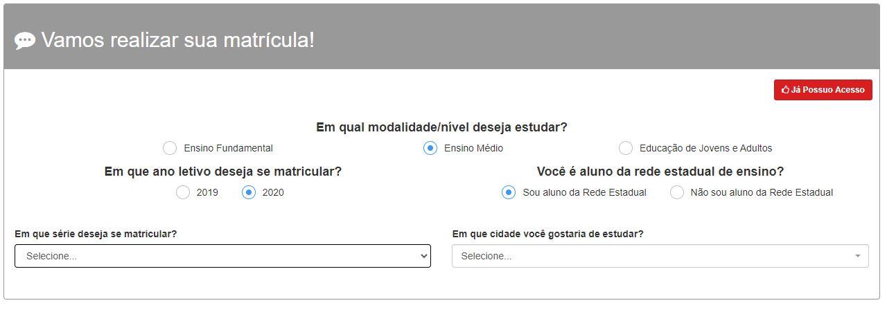 Como Realizar a Matrícula SEED SE 2022 Online