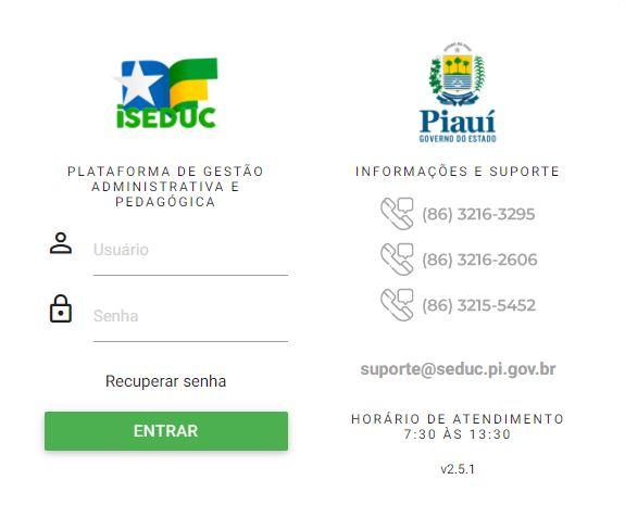 Boletim Online SEDUC PI