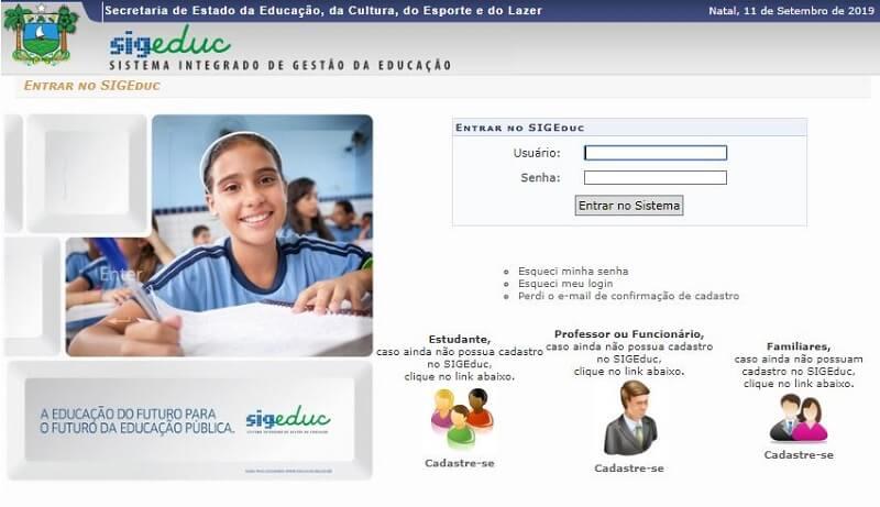 Como Consultar o Boletim Online SIGEDUC RN