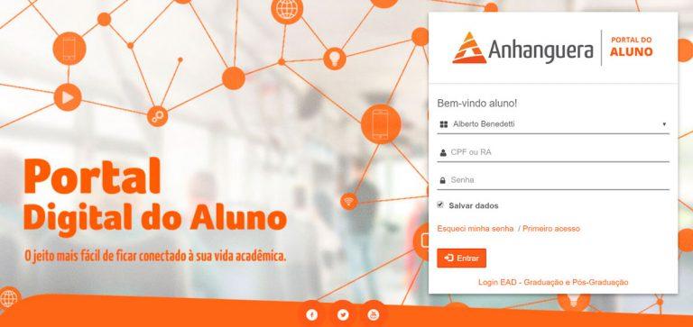 Portal do Aluno Anhanguera