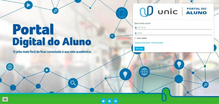 Portal do Aluno Unic 2021