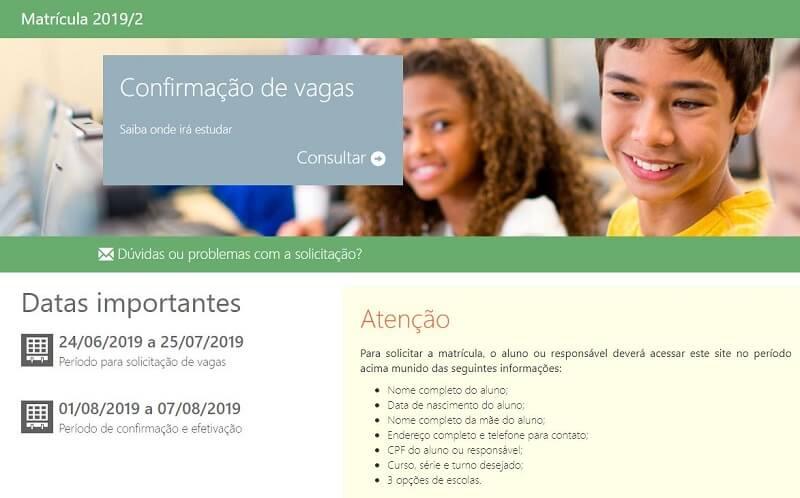 Matrícula Online SEDUC GO