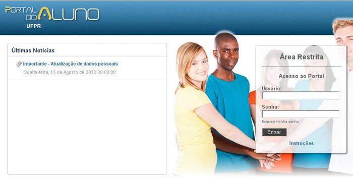 Portal do Aluno UFPR 2021
